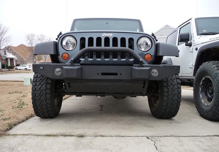 MOPAR front bumper with integrated factory light holes ...