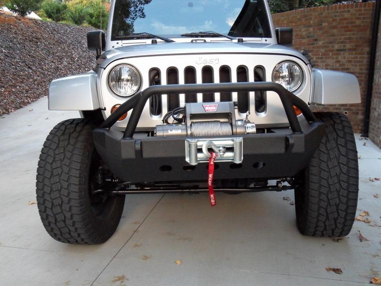 my new smittybilt xrc front bumper w   warn xd9000