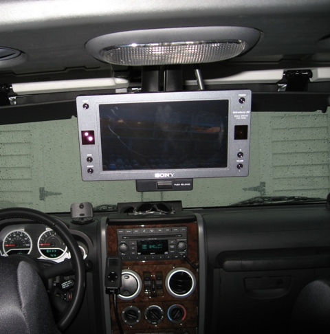 Finally Mounted My Lcd Monitor Jkowners Com Jeep