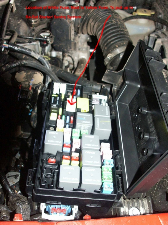 JK_open_Fuse_Box_under_hood how to overide sentry key stater problem 2005 jeep wrangler fuse box location at n-0.co