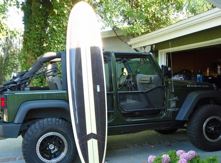 jeep wrangler surfboard rack