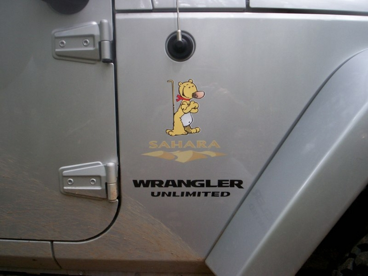 popeye jeep sticker
