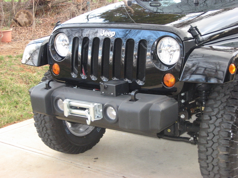 winch mount on stock bumper? - JeepForum.com